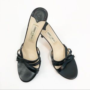 Jimmy Choi Black Leather Heel Size 39 (US 9)